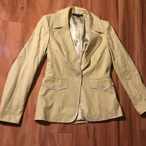 Ellen Tracy Light Yellow Green Jacket Blazer